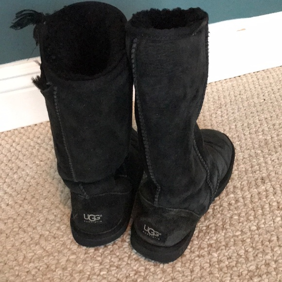 10d68d6494f Very Well Loved Black Tall Ugg Boots 6